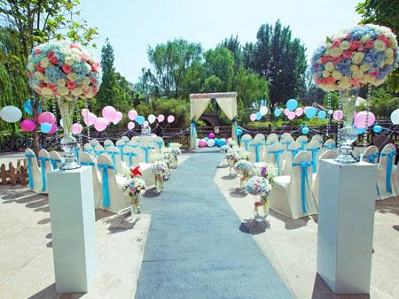 室外婚礼场景布置_户外婚礼气球装饰 户外婚礼现场布置【成都喜悦气球】
